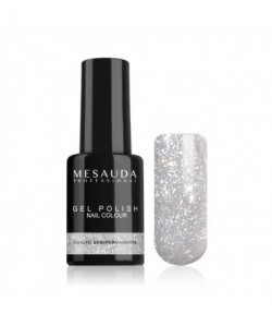 MESAUDA - GEL POLISH Nail Colour 5 ml - Smalto Semipermanente - Glitter Argento
