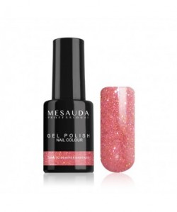 MESAUDA - GEL POLISH Nail Colour 5 ml - Smalto Semipermanente - Glitter Rosa