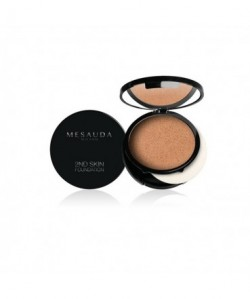 MESAUDA - 2ND SKIN FOUNDATION Fondotinta Compatto Crema-Polvere Honey